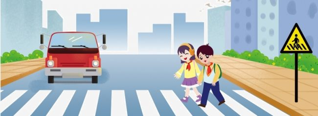 car versus pedestrian
