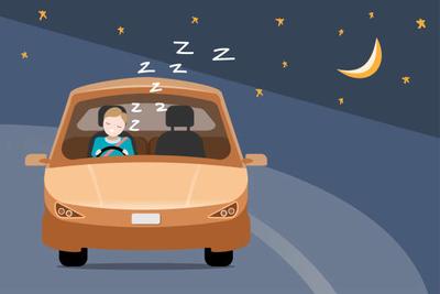 falling asleep while driving