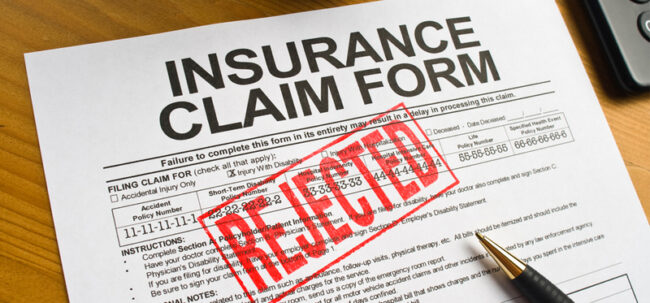 auto accident insurance rejection